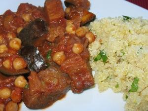 Tagine and quinoa