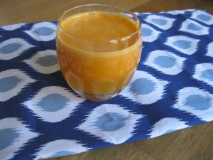 carrot, orange & ginger juice