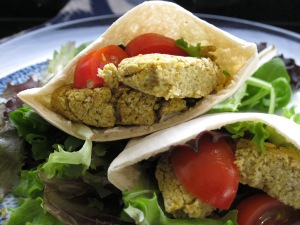 Lemon and coriander falafel