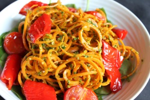 Carrot Noodles & Pesto