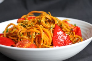 Carrot Noodles & Pesto1