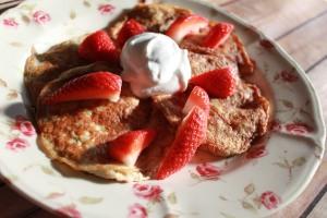 Banana & Oat pancakes 2
