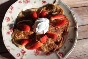 Banana & oat pancakes