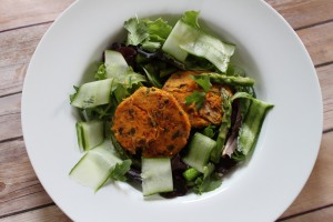 Sweet potato & tuna cakes