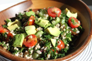 Kale & buckwheat salad
