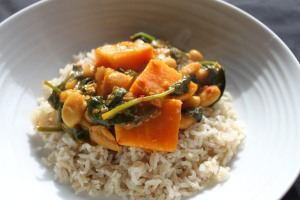 Sweet Potato & Spinach Curry