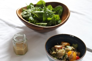 Ginger, lime tahini dressing