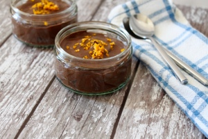 Chocolate Orange Mousse Pots, dairy free, gluten free